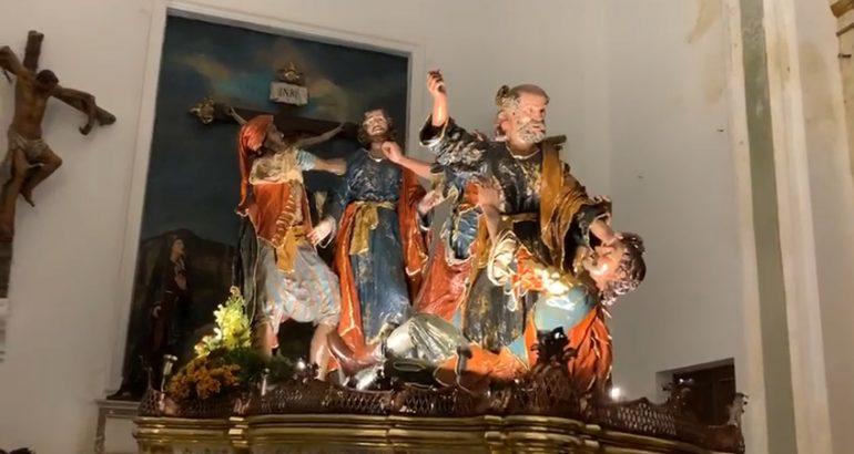 """Ceto Metallurgici - Gruppo """"L'Arresto"""" - Restauro del Gruppo Sacro dei Misteri di Trapani"""
